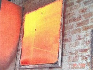 Fire Screen Test - All Firescreen designs are subject to rigourous testing.